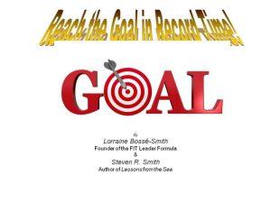 Reach the Goal booklet