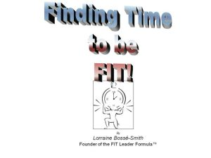 Learn how to find that time to excercise