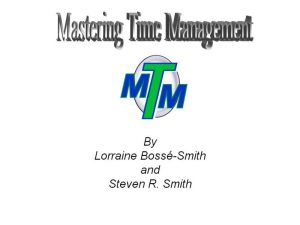 Master Time Management and become a high performance leader with this great resource
