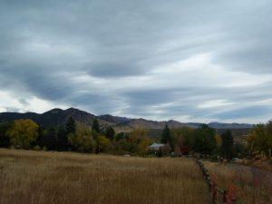 Kuma visits the Flatirons in Boulder