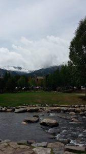 Great views of snowy mtns in Breckenridge, Colorado
