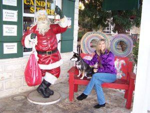 Kuma isn't sure about the Texas Santa