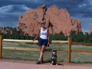 Kuma and his mom at Garden of the Gods