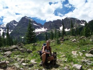 Kuma and his mom at the Maroon Bells