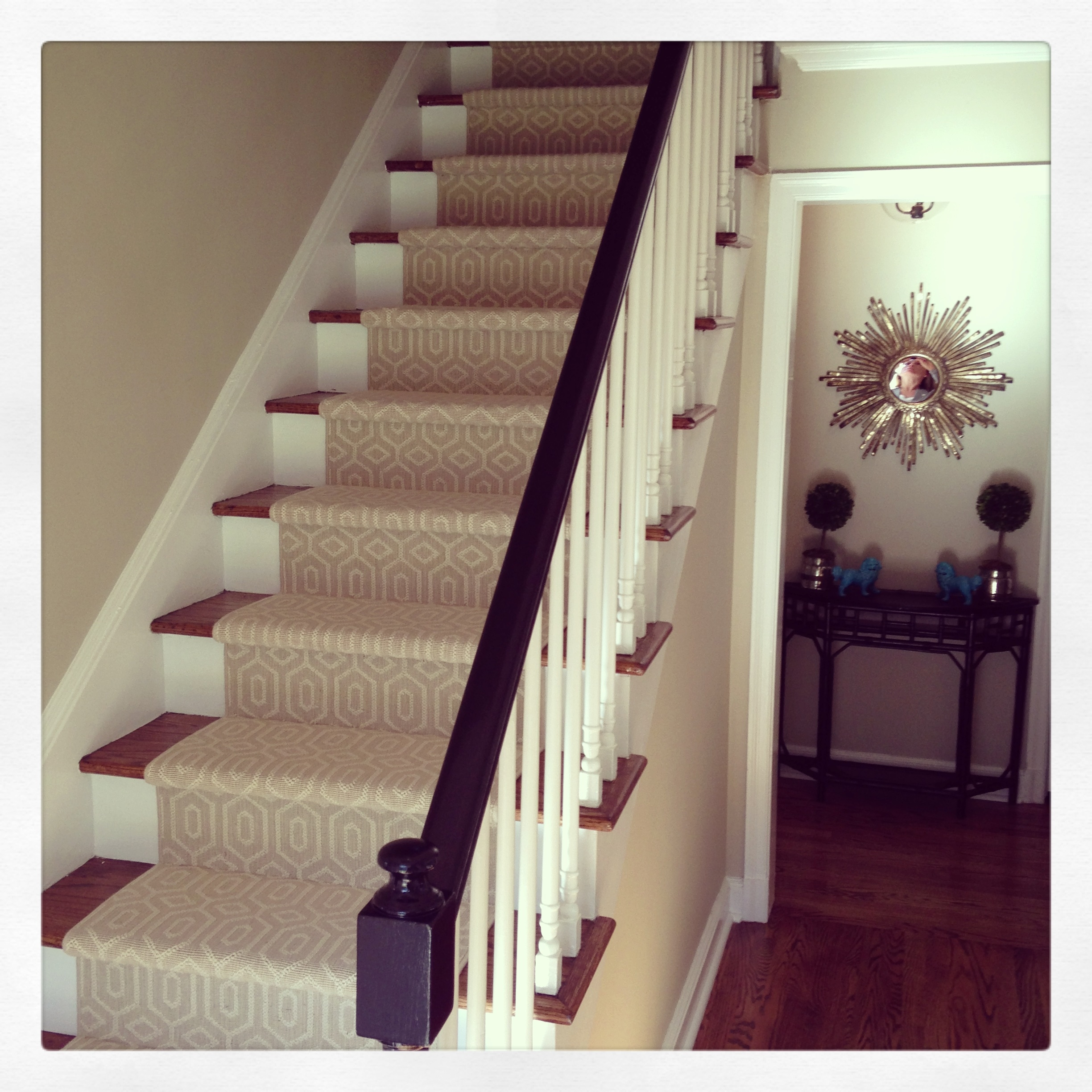 Choosing A Stair Runner Some Inspiration And Lessons Learned   Rug Runners For Stairs   Narrow   Landing   Victorian   Traditional   Persian