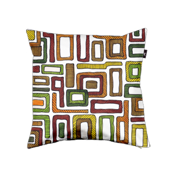 Retro Squares cushion design