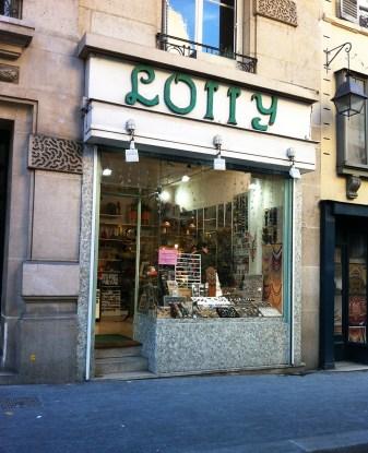 Vente bijoux fantaisie Boutique Paris