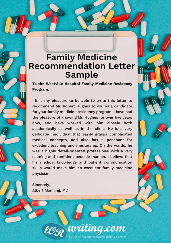 best recommendation letter for medical school