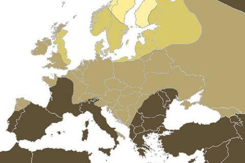Rubios en Europa