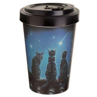 Vaso Bambú - 3 gatos con estrella -