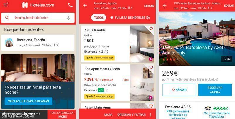 Hotelescom - Apps para buscar hoteles baratos