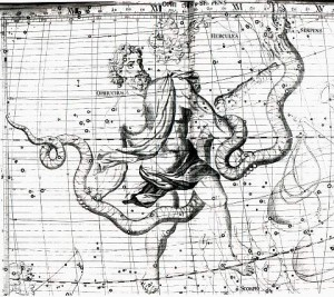 Ophiuchus, Atlas Coelestis, John Flamsteed, 1729