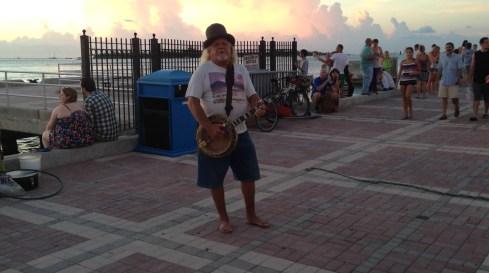 Artista en Mallory Square en Key West