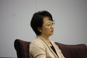 Dejected ABC School Board Member Soo Yoo during Tuesday's ABC School Board Meeting.  Randy Economy Photo