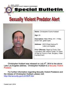 Christopher Hubbart has been located to a home in the Lake Los Angeles area on Wednesday, law enforcement officials confirmed to HMG-CN.