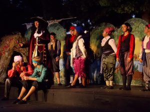 Captain Hook gathers around cast members during the performance of Peter Pan that took place in Artesia last week.