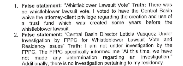 Part of letter sent to HMG-CN by Director Vasquez.