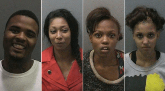 From left to right, Rowshaid Cordell Pellum, Santeea Munay Ralph, Markeisha Michelle Williams, and Shyteice Lashay Miles.