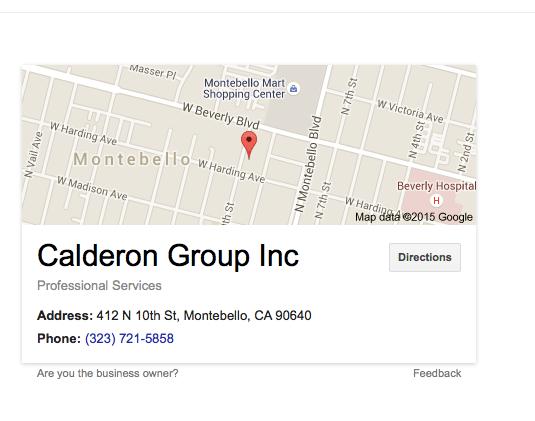 Google results of Delgado's address search.