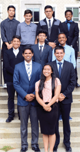 Cerritos High School's Rocketeers, from top to bottom, Conely Tjahjono, Gene Luevano, Benjamin Pluma, Curtis Garrett, Julio Juarez, Htet Naung, Lamour Atkins, Dev Bhatia, David Rodriguez, and Andreya Garcia. Photo courtesy ABCUSD.