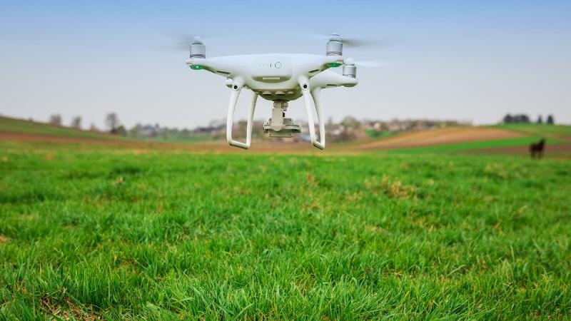 Santena, quando il drone diventa agricoltore