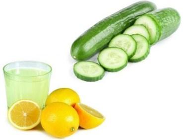 الخيار والليمون للتنحيف