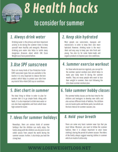 Summer health tips you should follow to stay healthy also lose weight rh loseweightloss