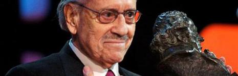 José Luis López Vázquez al recoger su Goya de honor