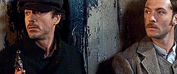 Robert Downey, Jr. y Jude Law en 'Sherlock Holmes'