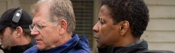 Robert Zemeckis y Denzel Washington