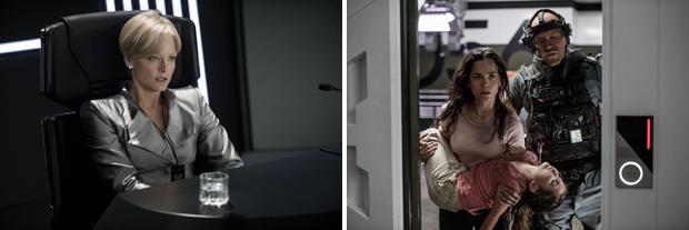 Jodie Foster y Alice Braga, en 'Elysium'