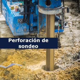 perforación geotécnica suelo terreno
