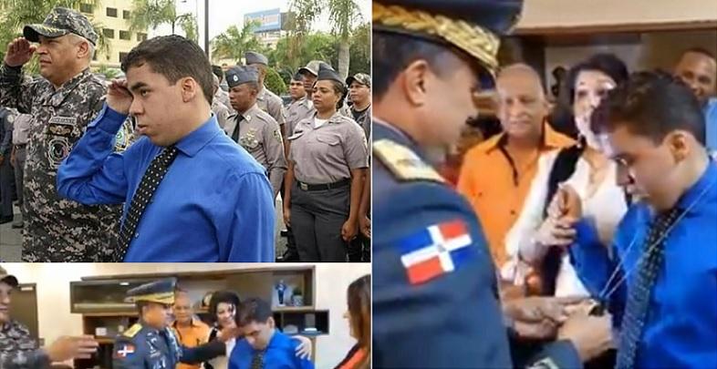 Sueña con ser policía para salvar el país