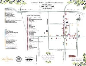 Los Olivos, California 2021 Town Map