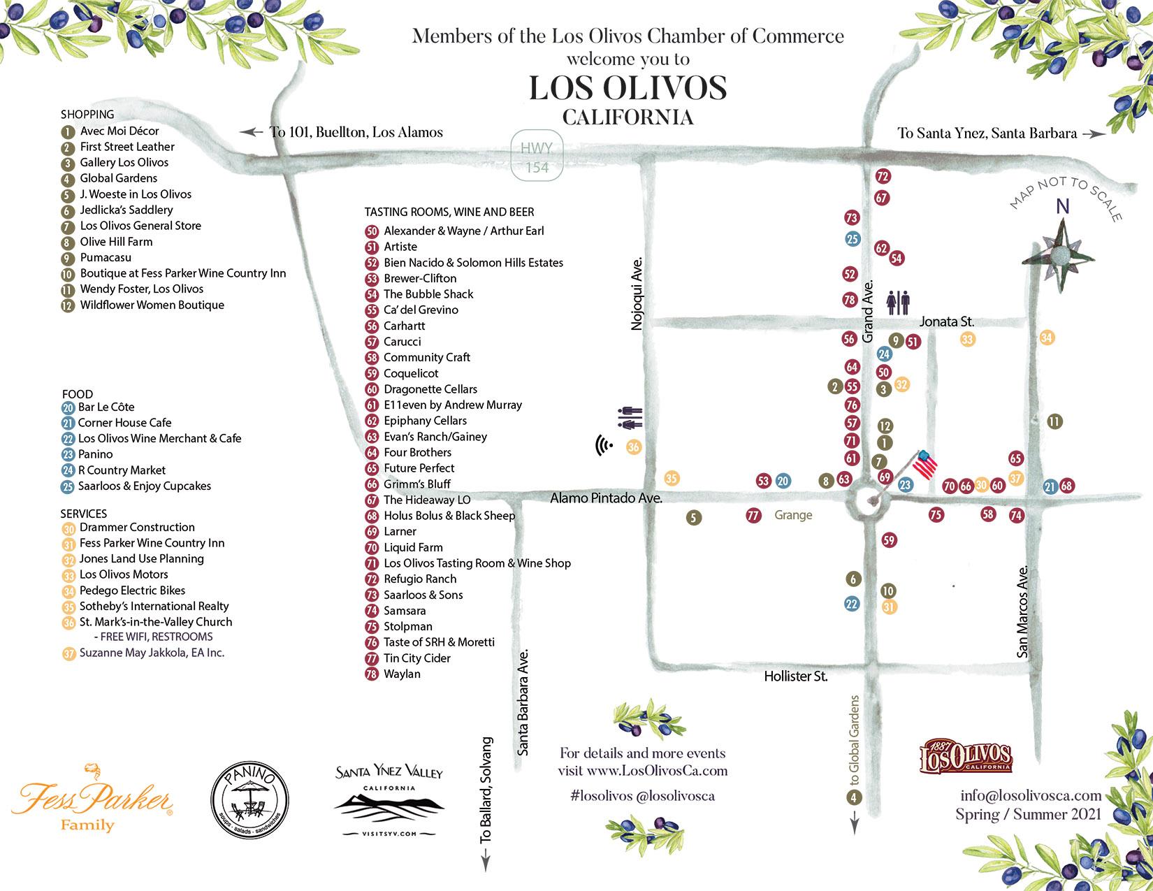 Los Olivos Town Map