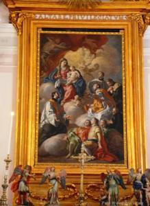 6) la tela di Francesco De Mura