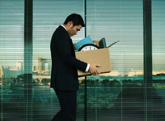empleado despedido de su oficina