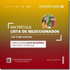 MatrículasUACh2021