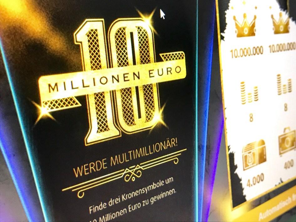 10 Millionen Euro Rubbellos von Lottoland