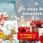 Rubbellos Adventskalender Lotto Niedersachsen