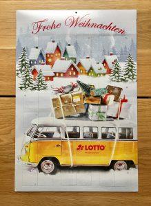 Vorderansicht Rubbellos-Adventskalender Lotto Niedersachsen