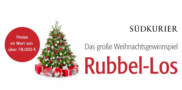 Südkurier Weihnachtsgewinnspiel Rubbel-Los