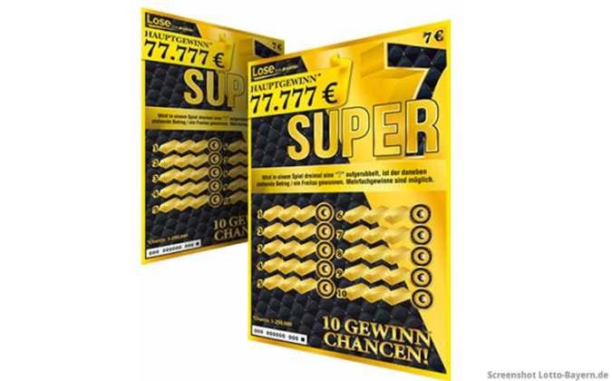 Super 7 Rubbellos Bayern