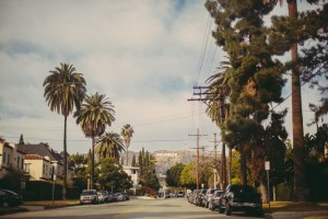 Los Angeles mit Hollywood Bergen