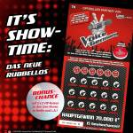 Posterwerbung The Voice of Germany Rubbellos