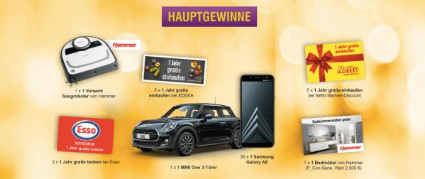 DeutschlandCard Glückslos 2019 Preise