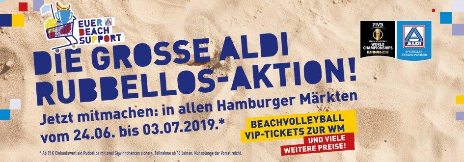 ALDI Beachsupport Rubbellos Gewinnspiel