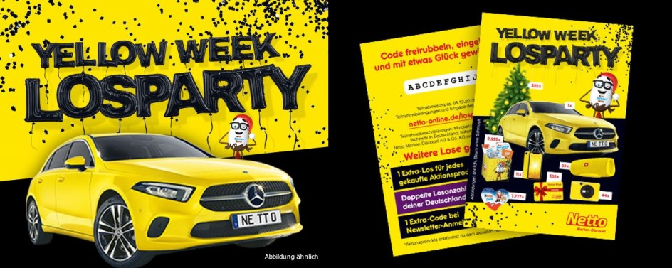Netto Yellow Week Losparty Gewinnspiel 2019