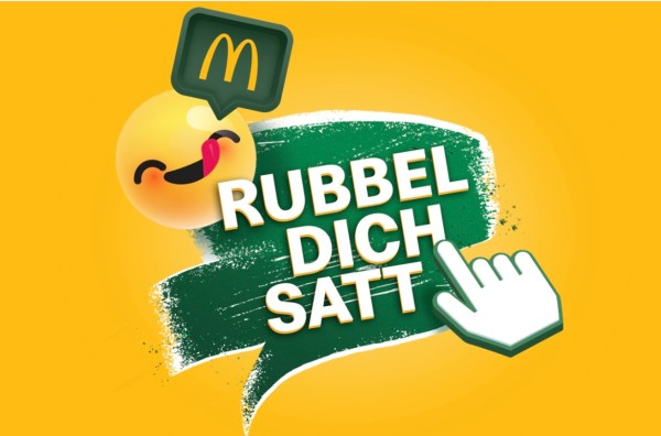 McDonald's Rubbel dich satt Logo