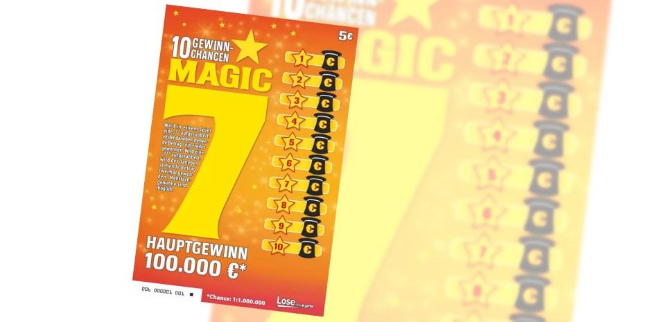 Magic 7 Rubbellos Lotto Bayern